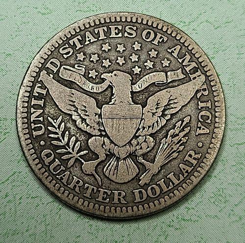 1916 Barber quarter Very Good-8+ Nice Original Medium Silver Tone!