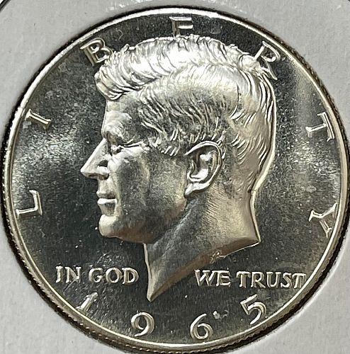 "1965-P High Grade CAMEO GEMBU ""Prooflike"" JFK US Silver Half Dollar - SMS Be"