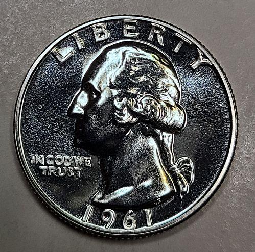1961 Proof Washington Quarter Proof-65 (GEM)