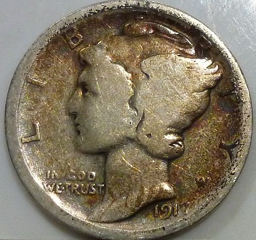 1917-D Good Mercury Dime   ( 1472)
