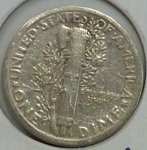 1920-P Very Fine Mercury Dime   ( 1456)