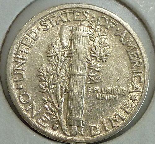 1930-S Extra Fine Mercury Dime   ( 1448)