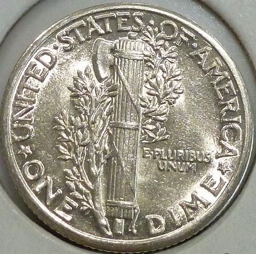 1935-P UNC  Mercury Dime Uncirculated ( 1420)
