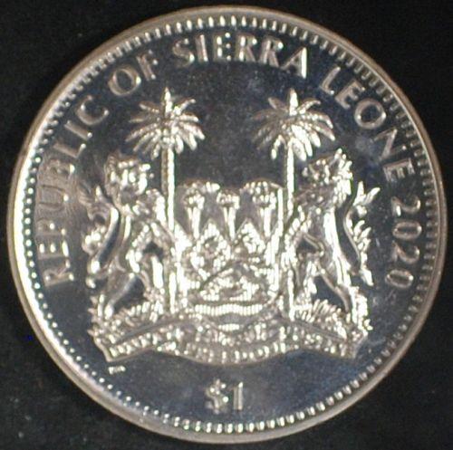 2020 Sierra Leone Dollar BU Lion