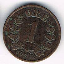 1 Øre - Oscar II, Norway, 1902
