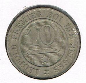 10 Centimes - Léopold I, Belgium, 1861