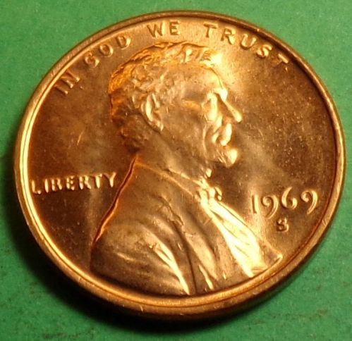 1969 S Lincoln Cent