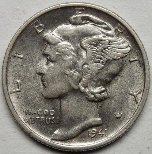 1941 D Mercury Dime #8