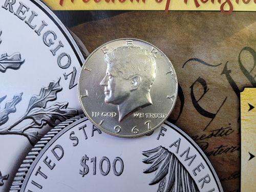ONE (1) 1967 Kennedy Silver Half Dollar