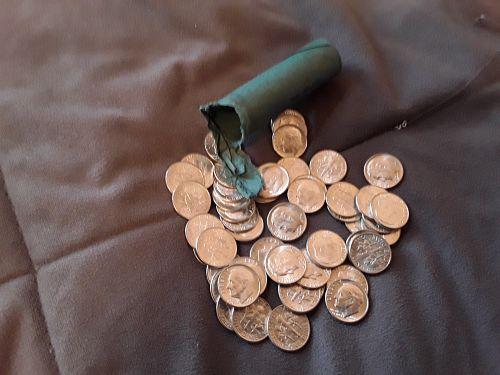 1961-D ROOSEVELT DIMES ALL MINT STATE BU GEMS ORIGINAL BANK ROLL