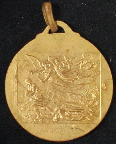 1918 Paris Art Woodrow Wilson Medallion by F. Gilbaught