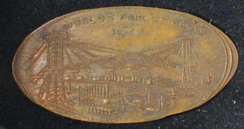1933 Chicago World's Fair Elongated Cent