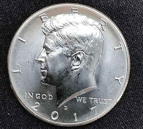 2017 D Uncirculated Clad Kennedy Half Dollar-(0903-7)