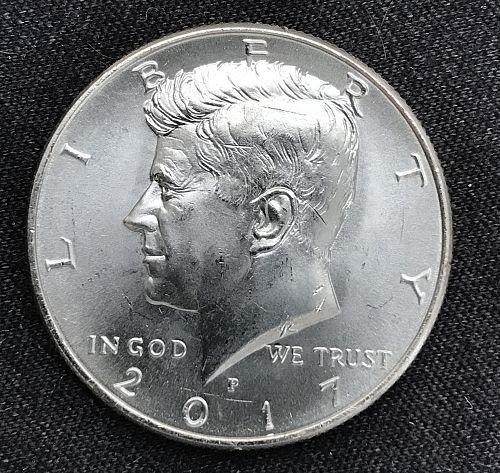 2017 P Uncirculated Clad Kennedy Half Dollar-(0903-8)