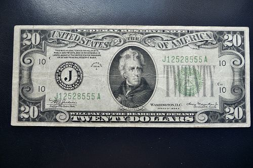1934-A $20.00 Federal Reserve Note