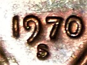 1970 S Lincoln Memorial Cent Small Date - High 7 - Brown, w/Large Railroad Rim