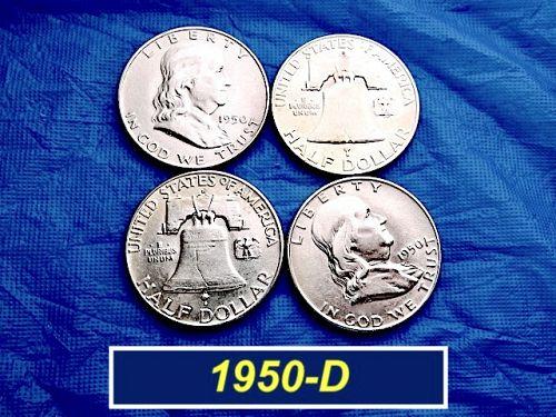 """1950-D Silver Franklin  ⭐️ """"AU""""  Condition  ⭐️ (1235)"""