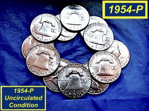 🇺🇸1954-P Franklin Half ⭐️ Lustrous MS-64 Mint State ⭐️ (1159c)