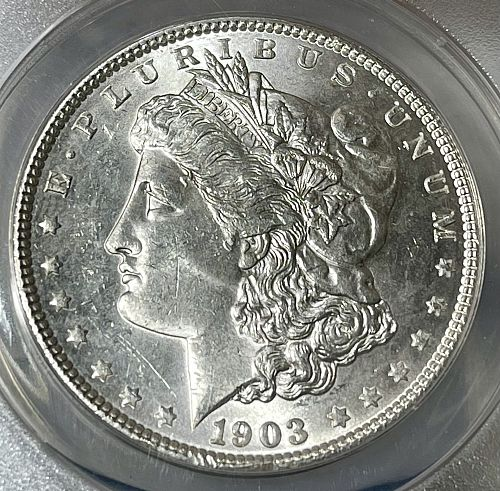 1903-P High Grade BU/MS62 ANACS Graded Morgan US Silver Dollar
