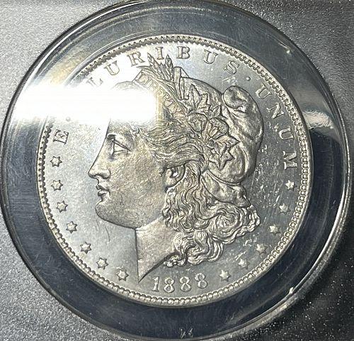 1888-O Semi-Scarce CHBU/MS63-PL ANACS Graded Morgan US Silver Dollar