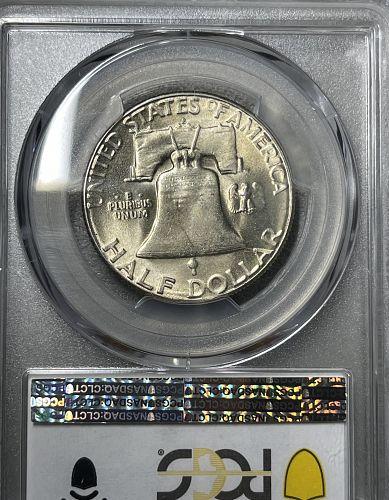 1953-S GEMBU Toned-MS65 PCGS Graded Franklin US Silver Half Dollar