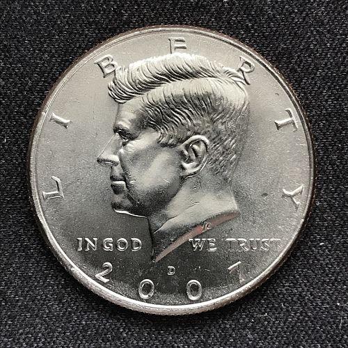 2007 D Uncirculated Clad Kennedy Half Dollar-(0909-1)