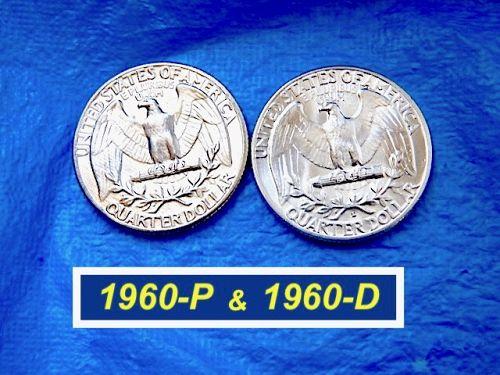 "1960-P&D Year-Set  ⭐️  PHILLY & DENVER Quarters  ⭐️  ""BU""  ⭐️ (2967)"