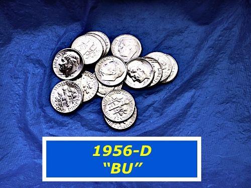 "1956-D  ""BU""  Dime   ⭐️  High Grade MS-64   ⭐️   ""BU""   ⭐️   (3282)"