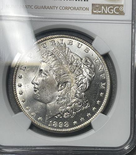 1898-O Choice BU/MS63 NGC Graded Morgan US Silver Dollar
