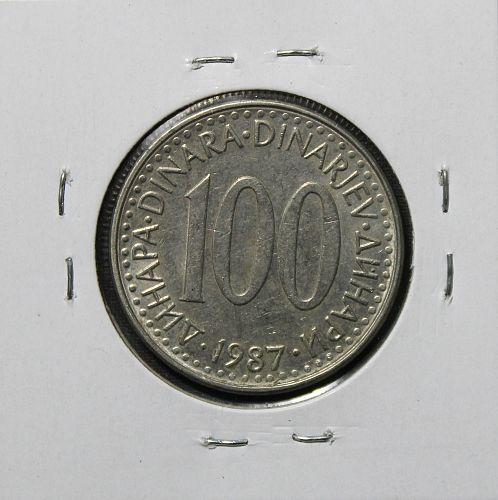 Yugoslavia 1987 100 Dinara