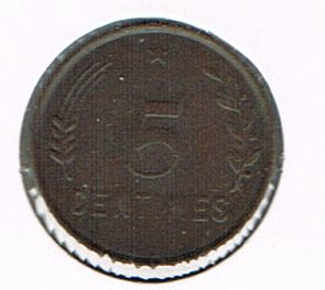 5 Centimes - Charlotte, Luxembourg, 1930