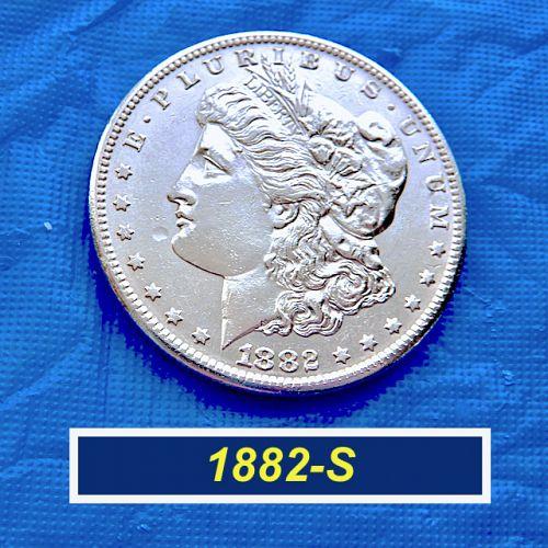 "1882-S Morgan Silver Dollar  ⭐️  Mint-State ""MS-63""  ⭐️  (5.01)"