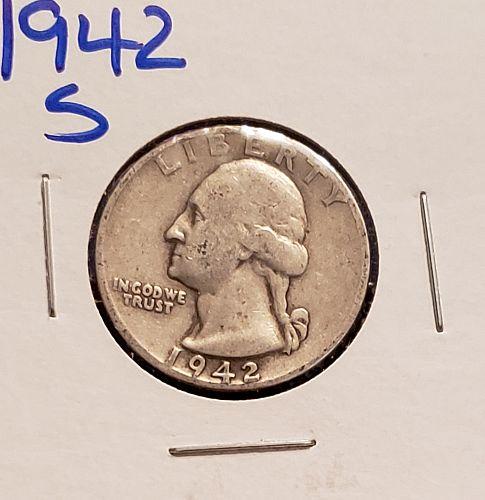 1942 -S Washington Quarter