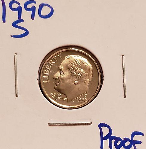 1990 S Roosevelt Dime