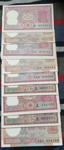INDIA  UNC..9 Pair..See signatures..