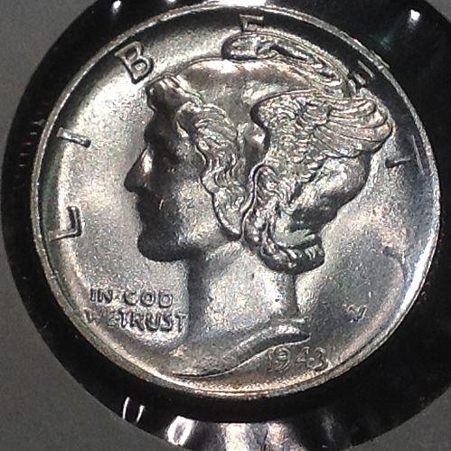 High Grade 1943 P Mercury Dime