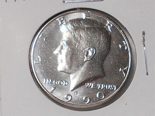 1990 P Uncirculated Kennedy half dollar from mint set