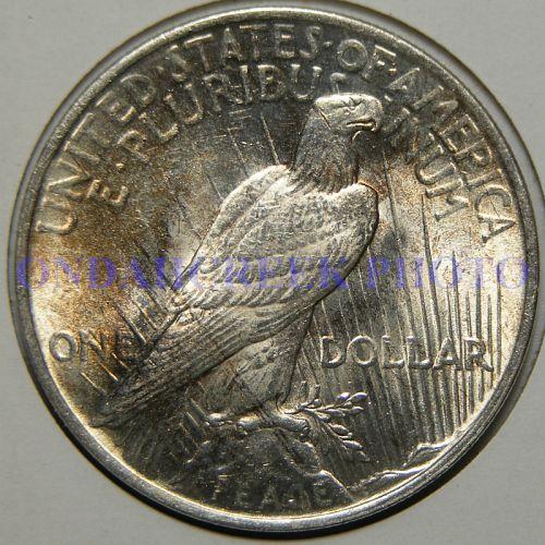 1923 Peace Dollar BU with Light Clash