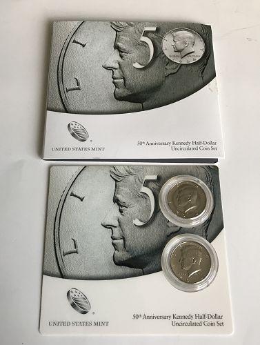 "2014 ""P&D"" Kennedy Half Dollar 50th Anniversary Clad 2 Coin Set (0914-1)"
