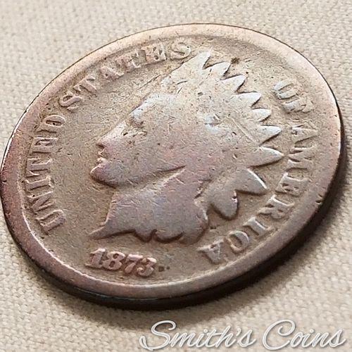 1873 ~ Open 3 ~ Indian Head Cent ~ Good
