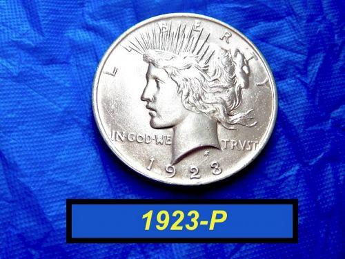 "1923-P PEACE Silver Dollar  ⭐️  ""AU-55/58"" Condition ⭐️ (5709)"