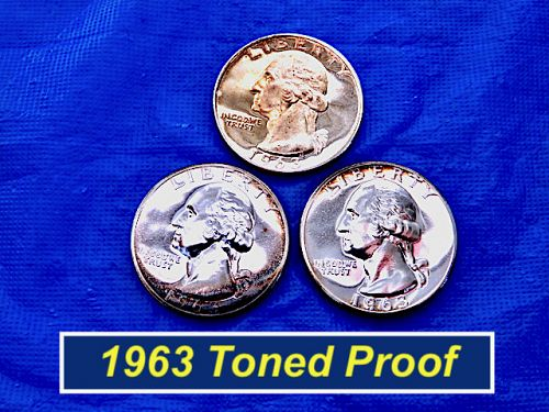 1963 Proof Quarter ⭐️ Toned and Some Surface Pitting ⭐️ (2.20)