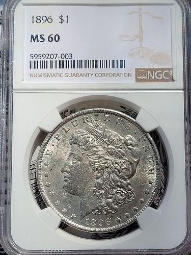 1896 Morgan Silver Dollar NGC MS60