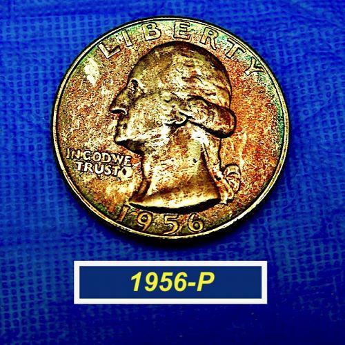 "1956-P  Toned and  ""BU""  Silver Washington Quarter  ⭐️    (2944)"