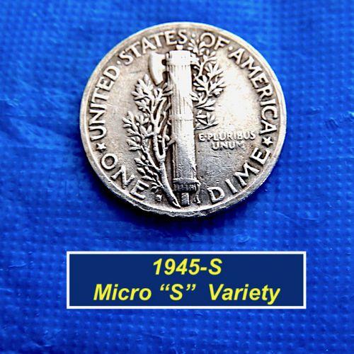 "1945-S  ""Micro S"" Variety ⭐️ CherryPickers FS-512 ⭐️  (3.15)"