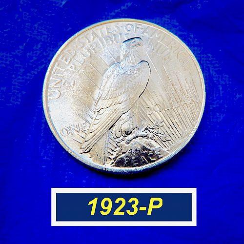 """1923-P PEACE Silver Dollar  ⭐️  AU-UNC (""""AU58"""" -- MS60"""") ⭐️ (57123)"""
