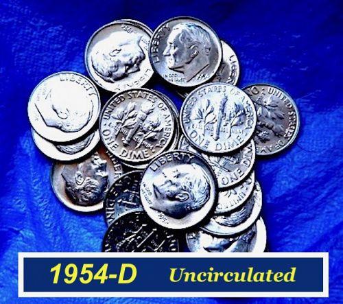 *L10/1 1954-D  Roosevelt  Dime ⭐️ Uncirculated Condition ⭐️  (3277)