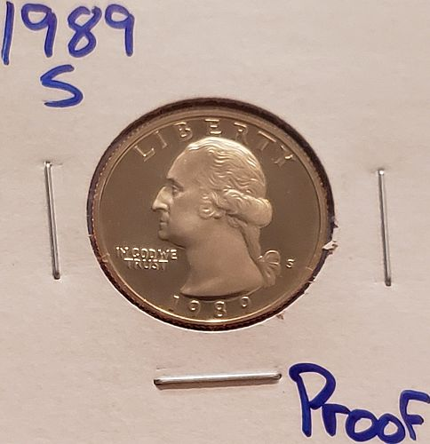 1989 S Washington Quarter