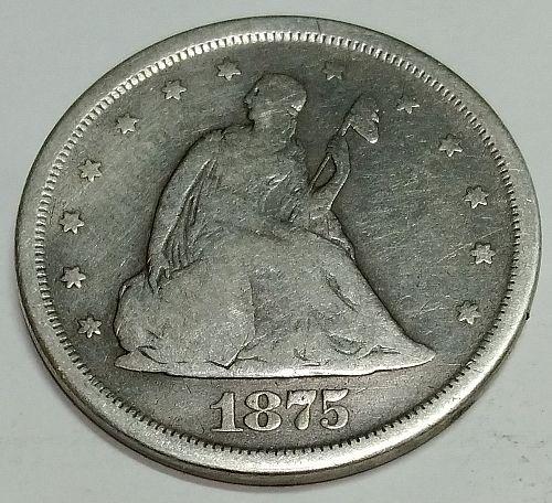 1875-S Twenty Cent Piece, Silver, great coin!