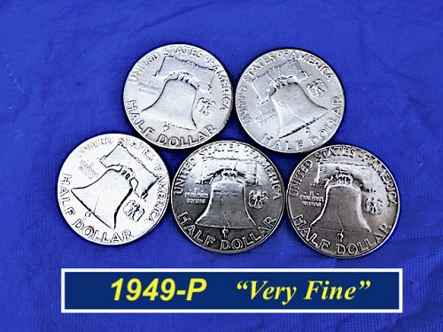 """1949-P Franklin  ⭐  """"VF"""" Condition as Pictured   ⭐  (1.26)"""